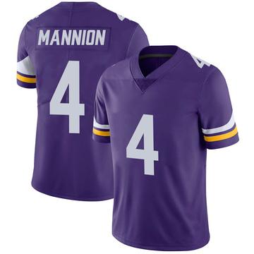 Youth Nike Minnesota Vikings Sean Mannion Purple 100th Vapor Jersey - Limited