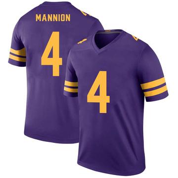 Youth Nike Minnesota Vikings Sean Mannion Purple Color Rush Jersey - Legend