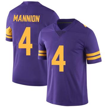 Youth Nike Minnesota Vikings Sean Mannion Purple Color Rush Jersey - Limited