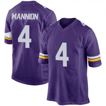 Youth Nike Minnesota Vikings Sean Mannion Purple Team Color Jersey - Game