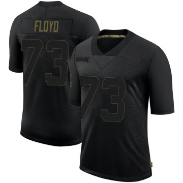 Youth Nike Minnesota Vikings Sharrif Floyd Black 2020 Salute To Service Jersey - Limited