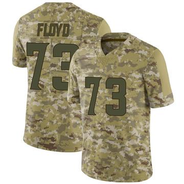 Youth Nike Minnesota Vikings Sharrif Floyd Camo 2018 Salute to Service Jersey - Limited