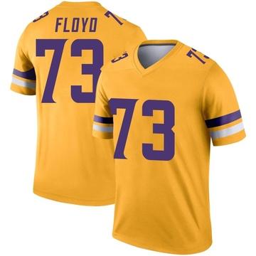 Youth Nike Minnesota Vikings Sharrif Floyd Gold Inverted Jersey - Legend