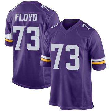 Youth Nike Minnesota Vikings Sharrif Floyd Purple Team Color Jersey - Game