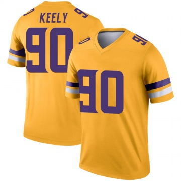 Youth Nike Minnesota Vikings Stacy Keely Gold Inverted Jersey - Legend