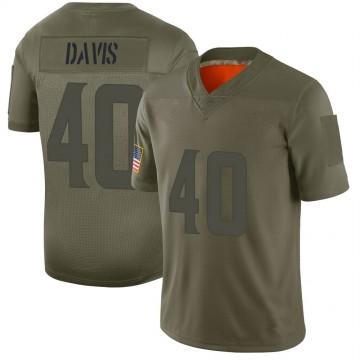 Youth Nike Minnesota Vikings Todd Davis Camo 2019 Salute to Service Jersey - Limited