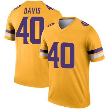 Youth Nike Minnesota Vikings Todd Davis Gold Inverted Jersey - Legend