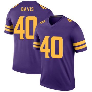Youth Nike Minnesota Vikings Todd Davis Purple Color Rush Jersey - Legend