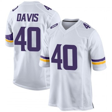 Youth Nike Minnesota Vikings Todd Davis White Jersey - Game