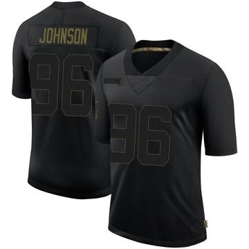 Youth Nike Minnesota Vikings Tom Johnson Black 2020 Salute To Service Jersey - Limited