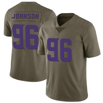 Youth Nike Minnesota Vikings Tom Johnson Green 2017 Salute to Service Jersey - Limited
