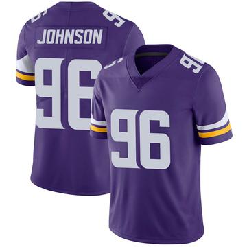 Youth Nike Minnesota Vikings Tom Johnson Purple 100th Vapor Jersey - Limited
