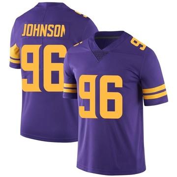 Youth Nike Minnesota Vikings Tom Johnson Purple Color Rush Jersey - Limited