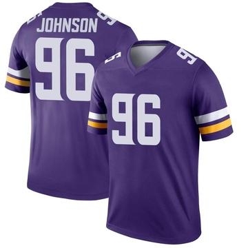 Youth Nike Minnesota Vikings Tom Johnson Purple Jersey - Legend