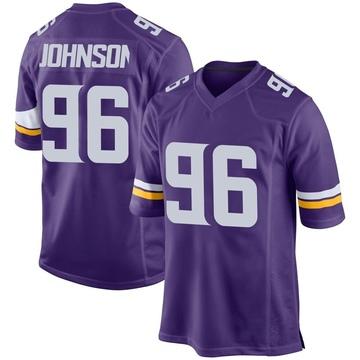 Youth Nike Minnesota Vikings Tom Johnson Purple Team Color Jersey - Game