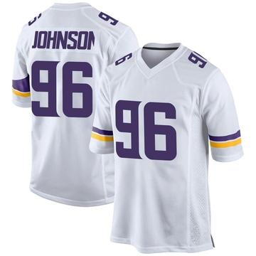 Youth Nike Minnesota Vikings Tom Johnson White Jersey - Game