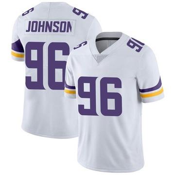 Youth Nike Minnesota Vikings Tom Johnson White Vapor Untouchable Jersey - Limited