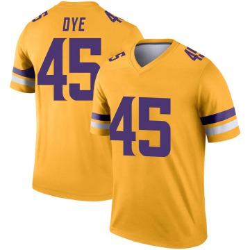 Youth Nike Minnesota Vikings Troy Dye Gold Inverted Jersey - Legend