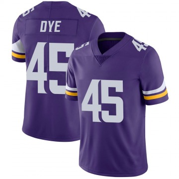 Youth Nike Minnesota Vikings Troy Dye Purple Team Color Vapor Untouchable Jersey - Limited