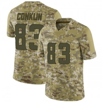 Youth Nike Minnesota Vikings Tyler Conklin Camo 2018 Salute to Service Jersey - Limited