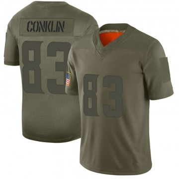 Youth Nike Minnesota Vikings Tyler Conklin Camo 2019 Salute to Service Jersey - Limited