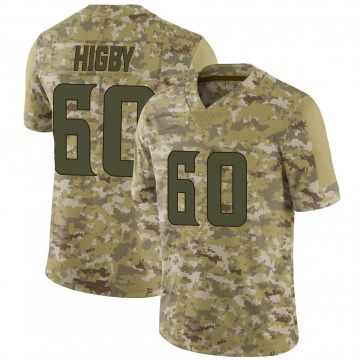 Youth Nike Minnesota Vikings Tyler Higby Camo 2018 Salute to Service Jersey - Limited
